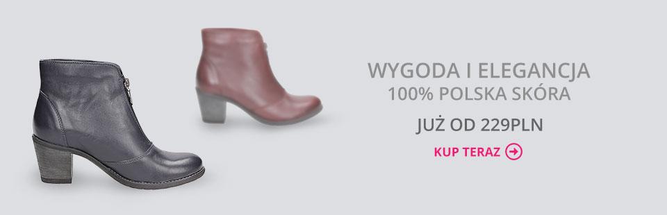 botki damskie skórzane buty escott